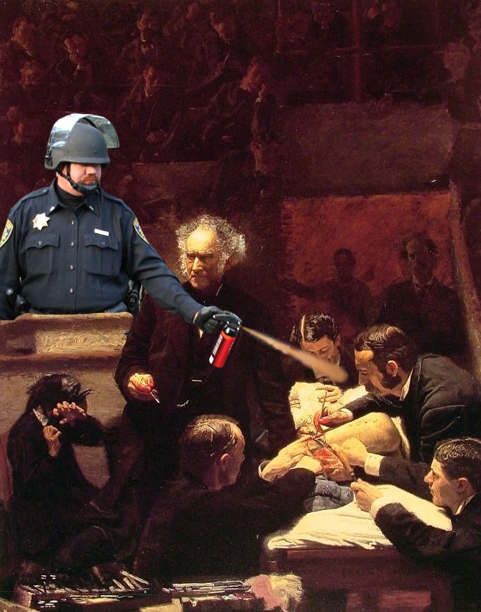 1-lt-john-pike-pepper-spraying-the-gross-clinic